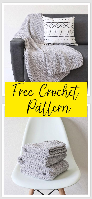 Free Crochet Velvet Berries Throw Pattern 1