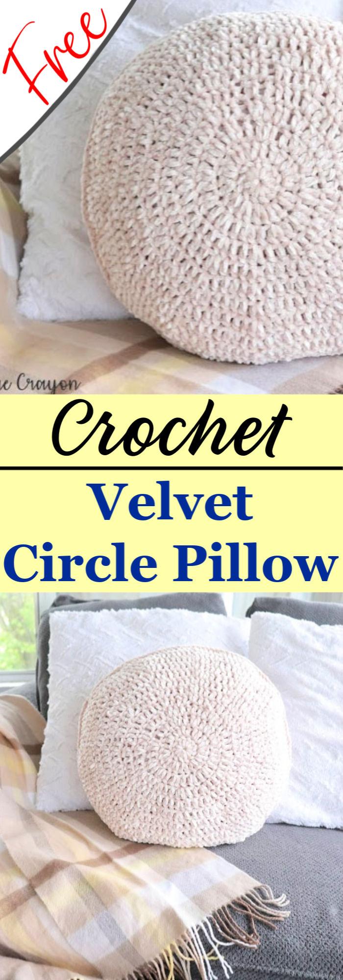 Free Crochet Velvet Circle Pillow Pattern