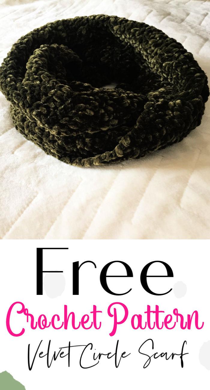Free Crochet Velvet Circle Scarf Pattern