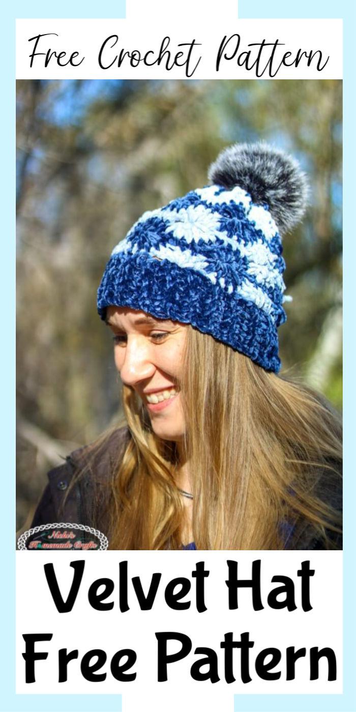 How to Crochet a Velvet Hat – Free Pattern